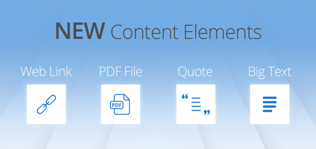 The new content elements