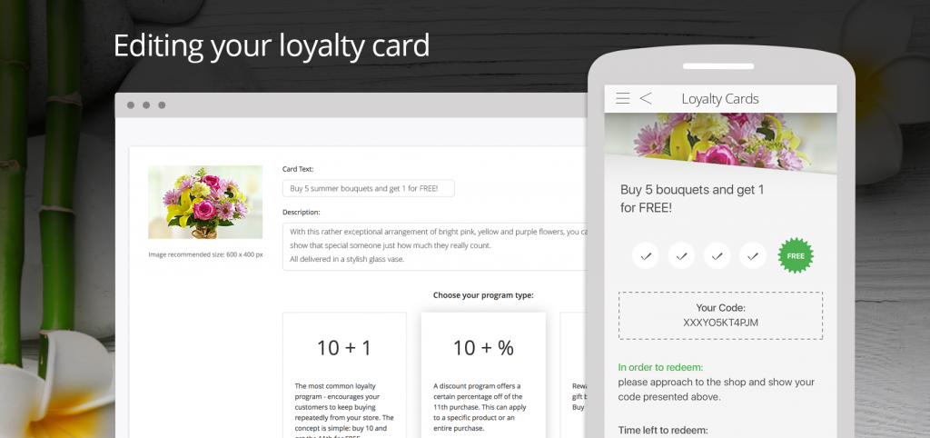 Keep your customers engaged and coming back with customized rewards.