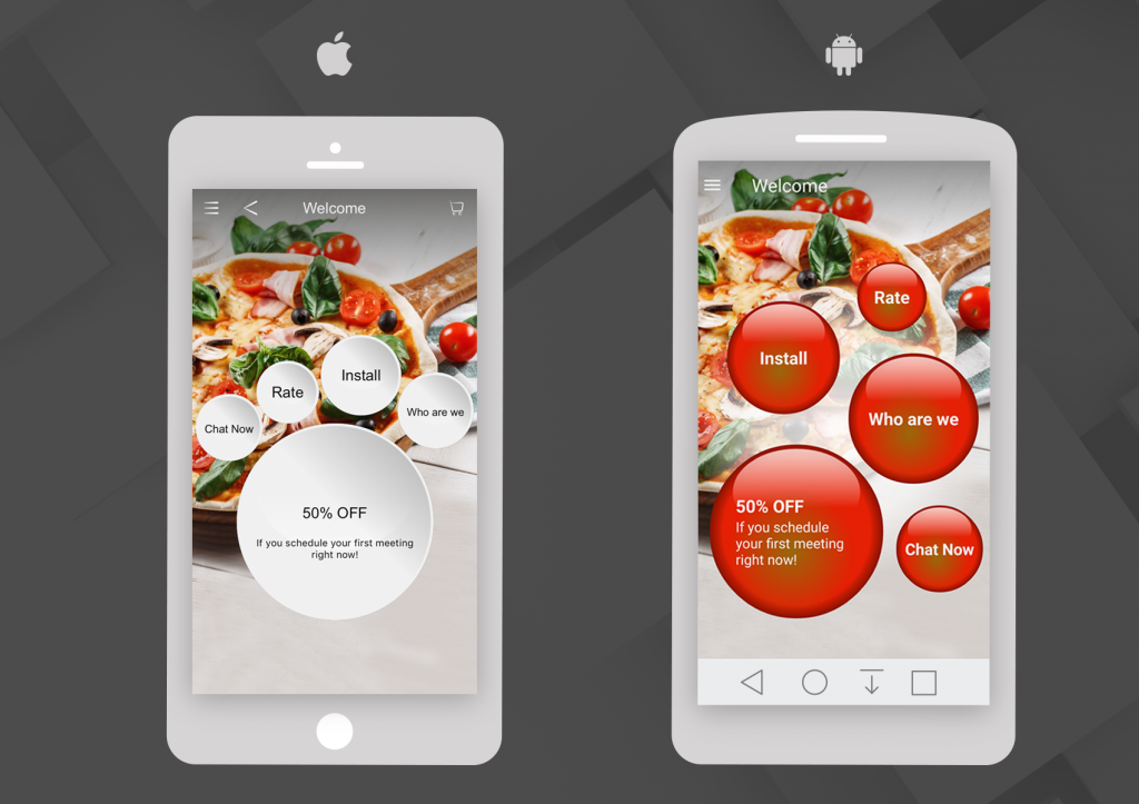 Based on the differences between the platforms, we created two versions of your app.