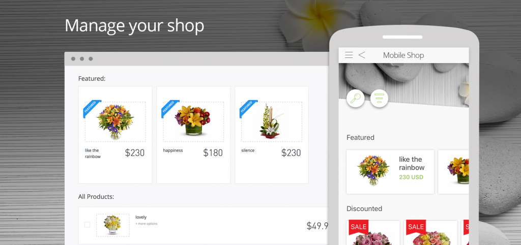 Create a dedicated app to generate more sales by engaging shoppers to make a purchase from their mobile devices.